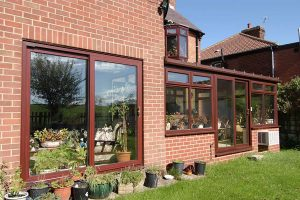 Rosewood sliding patio doors